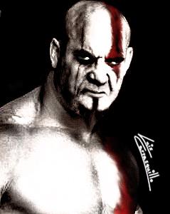 Bill Goldberg as Kratos by Lwiis64