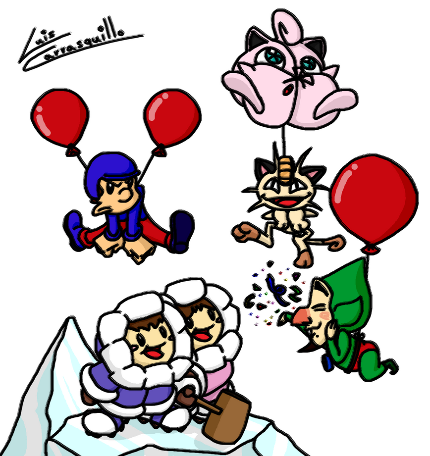 Balloon Fight With Some Guests By Lwiis64 On DeviantArt