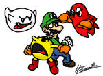 Luigi and Pacman Haunted