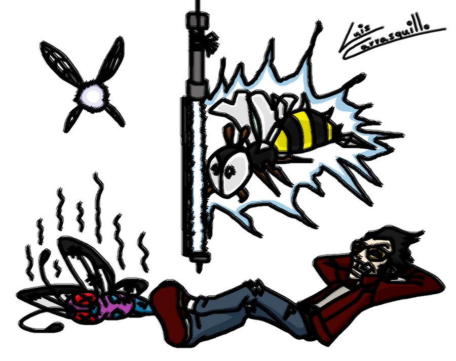 Travis Enjoys a Bugfree Nap by Lwiis64