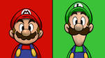 Mario and Luigi - Red and Green