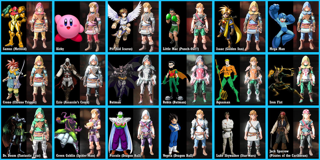 Breath of the Wild - Other Color Swaps by Lwiis64