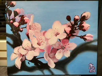 Cherry Blossoms - Acrylic Painting