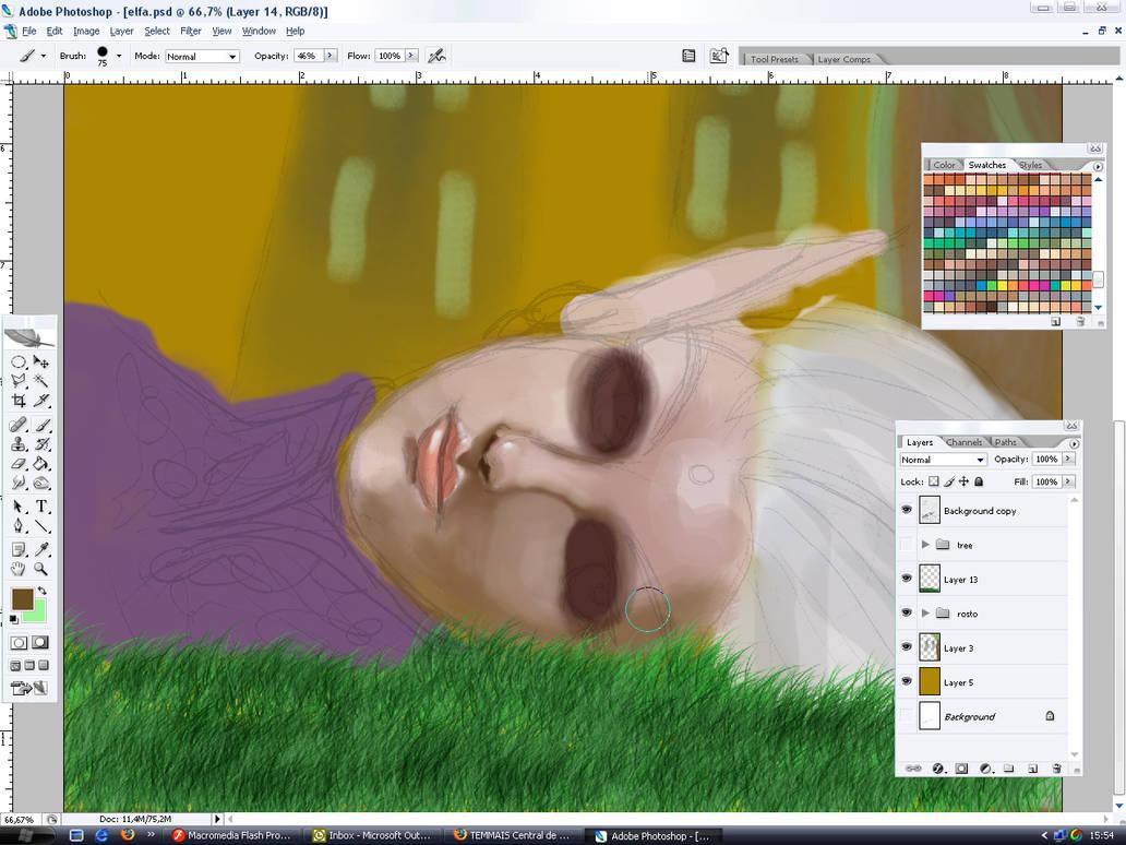 Elf painting progress