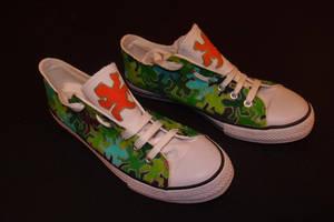 Escher lizard shoes