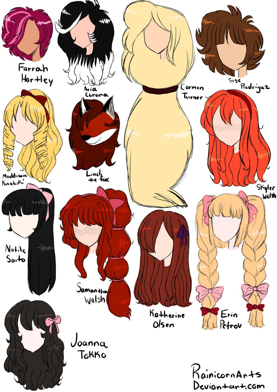 Аниме причёска для девушки