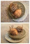 Miniature Almond Cones