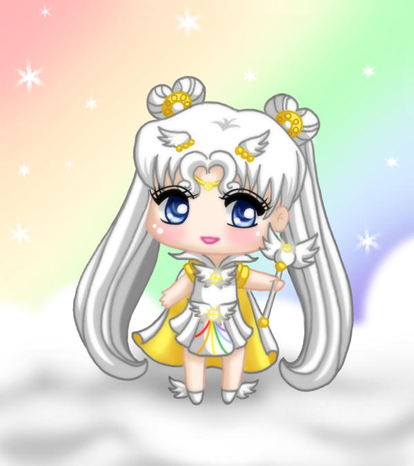 Chibi Sailor Cosmos by drewbiedooah