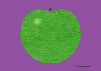 Green Apple by AJ-Illustrations