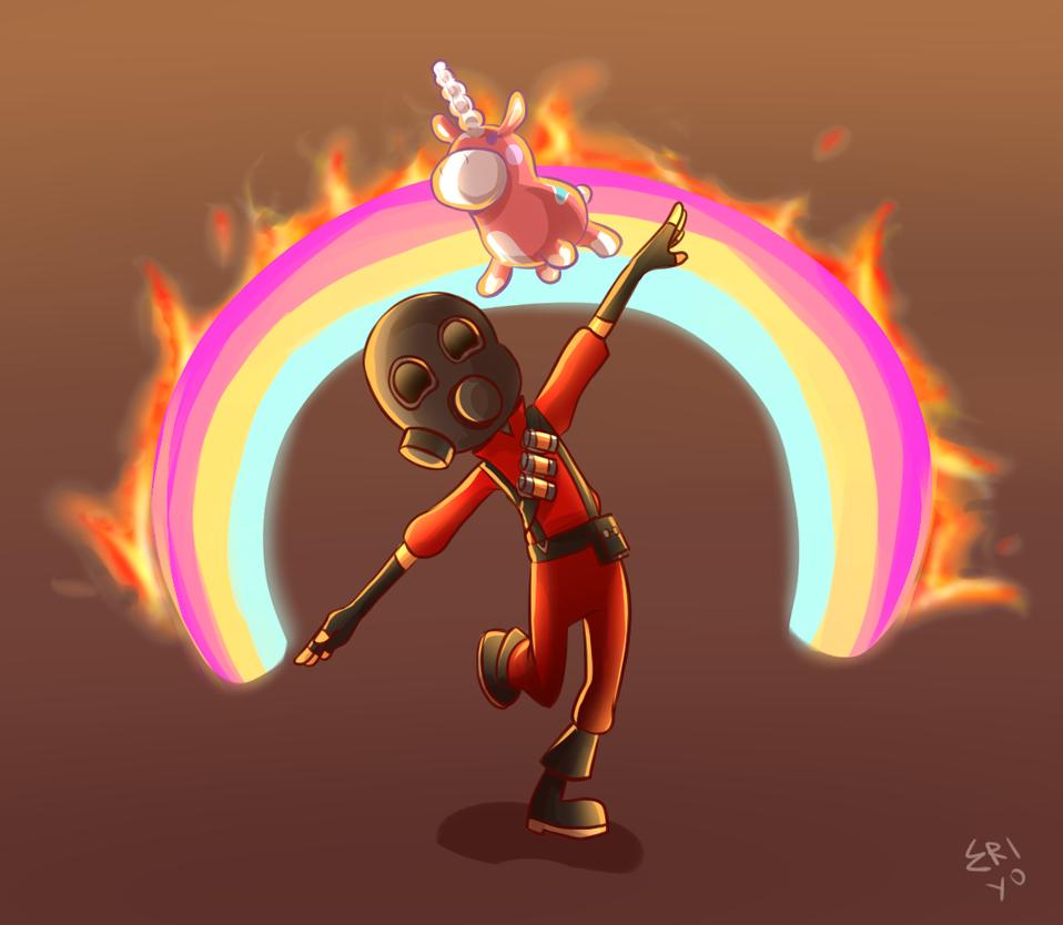 Pyro vs. the Forces of Evil by Eri-Yo