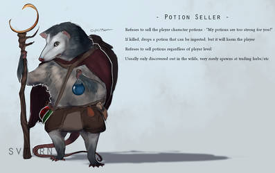 Opossum potion seller by svturnvl