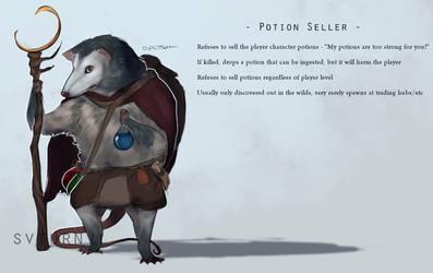 Opossum potion seller by svturnvl