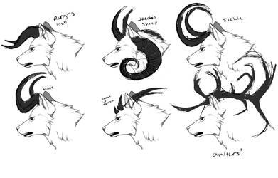 impressive world canine horns concept by svturnvl