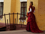 Dark-red victorian dress