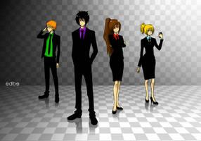 Businessmen and Businesswomen by miss-edbe
