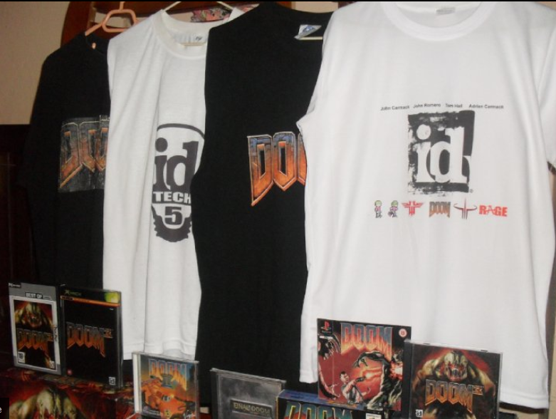 Id software t shirts by doomcollector on deviantart for T shirt logo design software