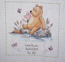 Winnie the Pooh Birth Sampler
