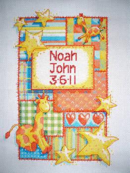 Noah's Birth Sampler