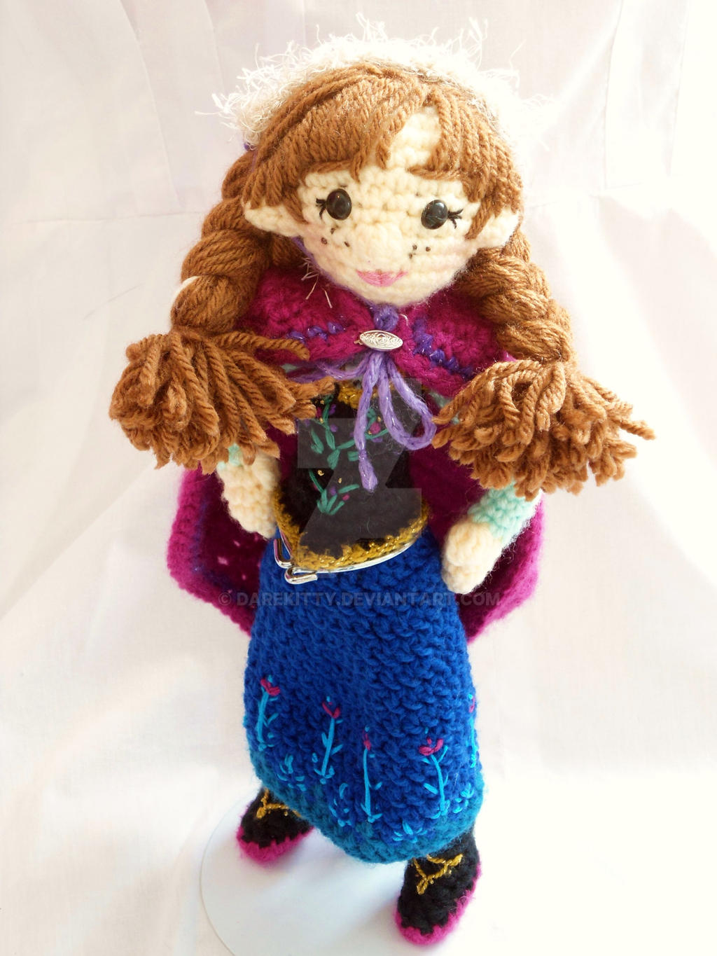 Amigurumi Elsa Ve Anna : Anna amigurumi by dareKITTY on DeviantArt