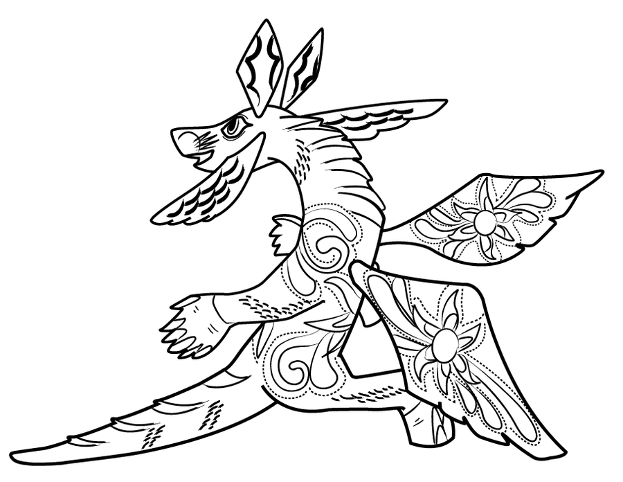 Alebrijes Coco Coloring Pages Quotes Of The Day