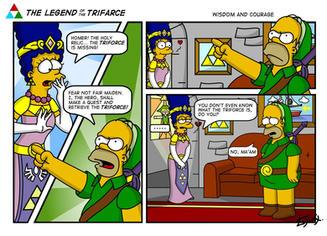 LoZ Simpson parody 1 by ljinx