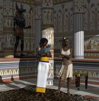 Egyptian houseservants by deadheart82