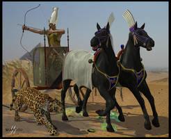 Pharaoh's hunting by deadheart82
