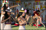 Egyptian musicians by deadheart82