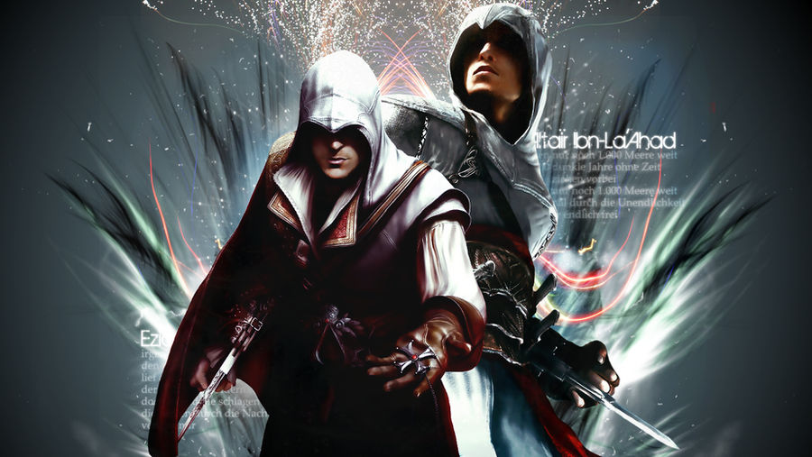 Ezio And Altair Wallpaper By Daphnecool On Deviantart