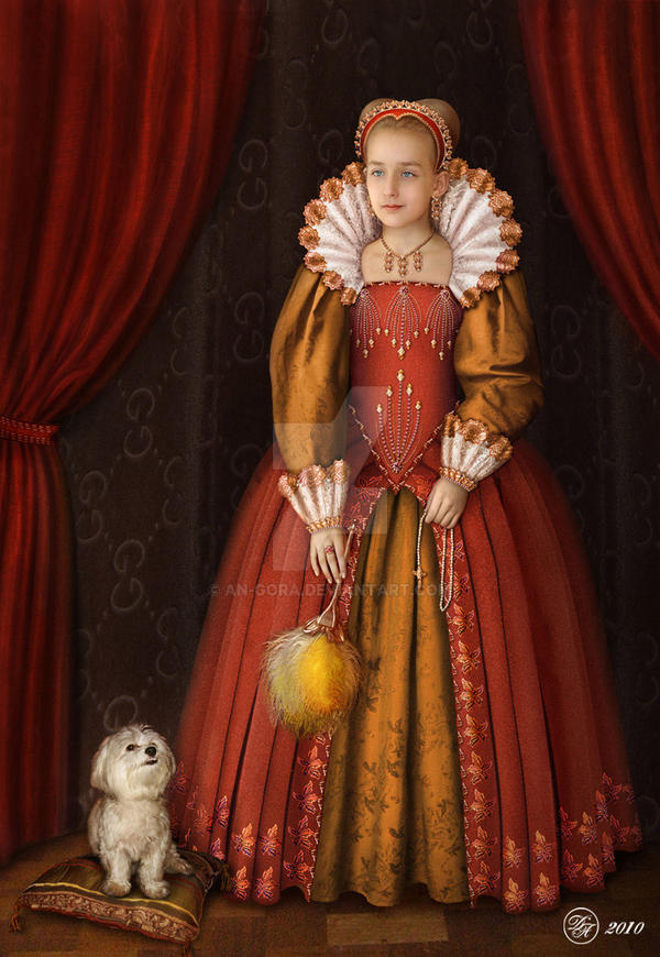 Portrait in style Tudor by An-gora