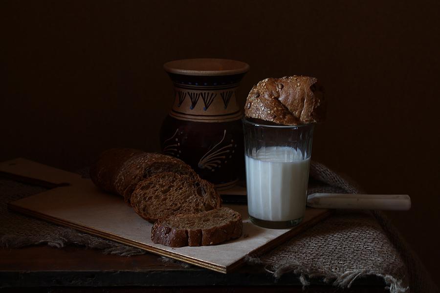 With milk by An-gora