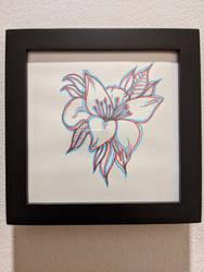 Anaglaph flower
