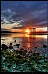 Sundown on Tofino