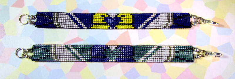 Sailor Uranus and Sailor Neptune Bracelets by PookNero