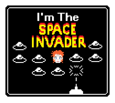 Moonage Space Invader by PookNero