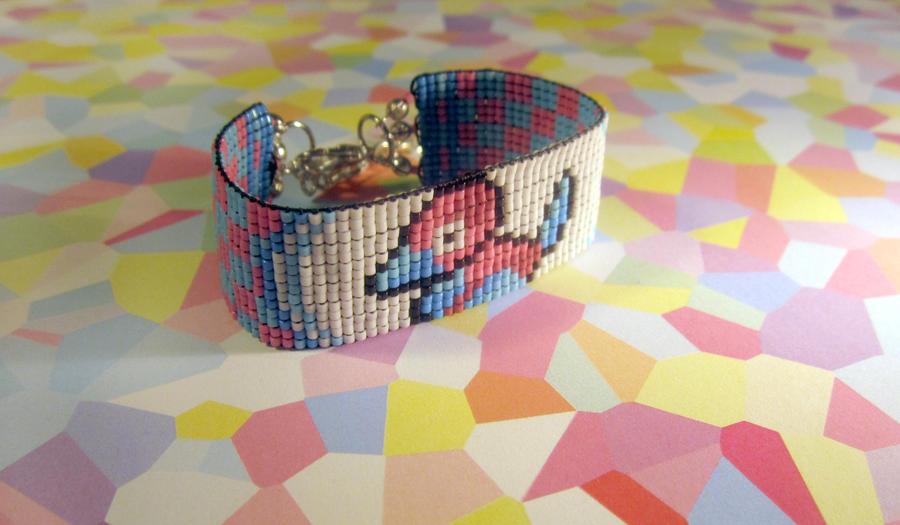 Pokemon: Porygon Bracelet by PookNero