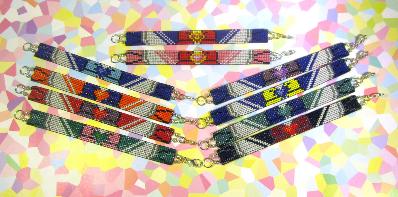 Sailor Senshi Bracelets by PookNero