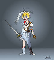 Jaune d'Arc to Weiss Schnee TG by NADMH