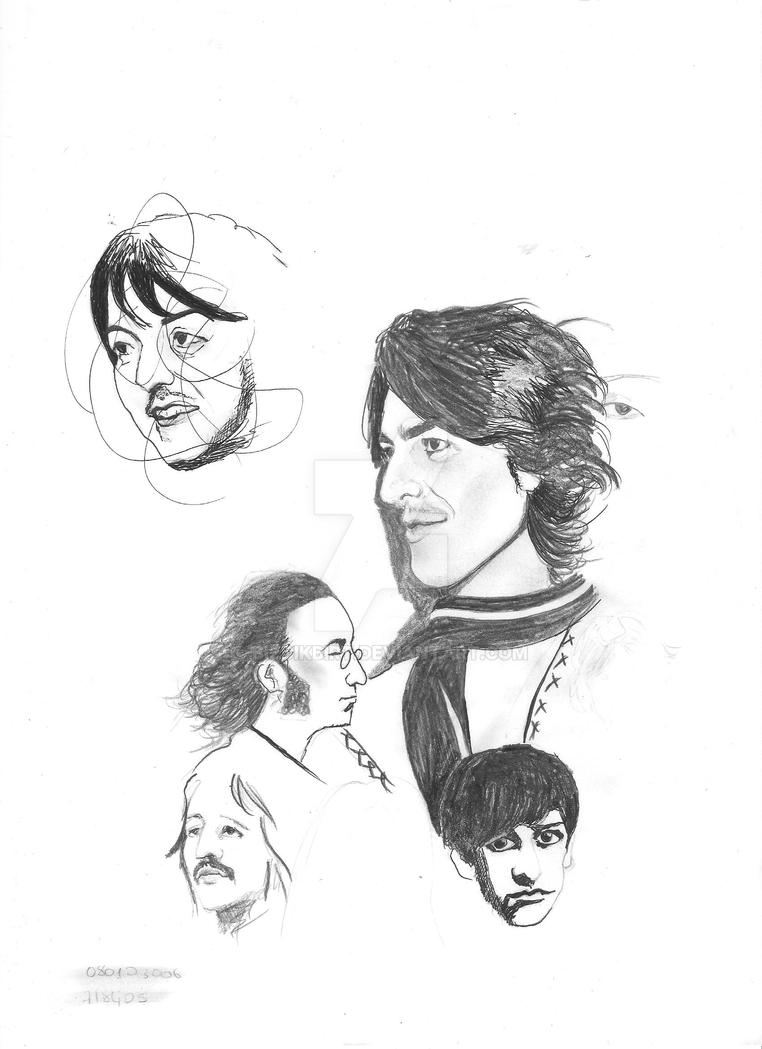 beatles sketches by bizdikbirt