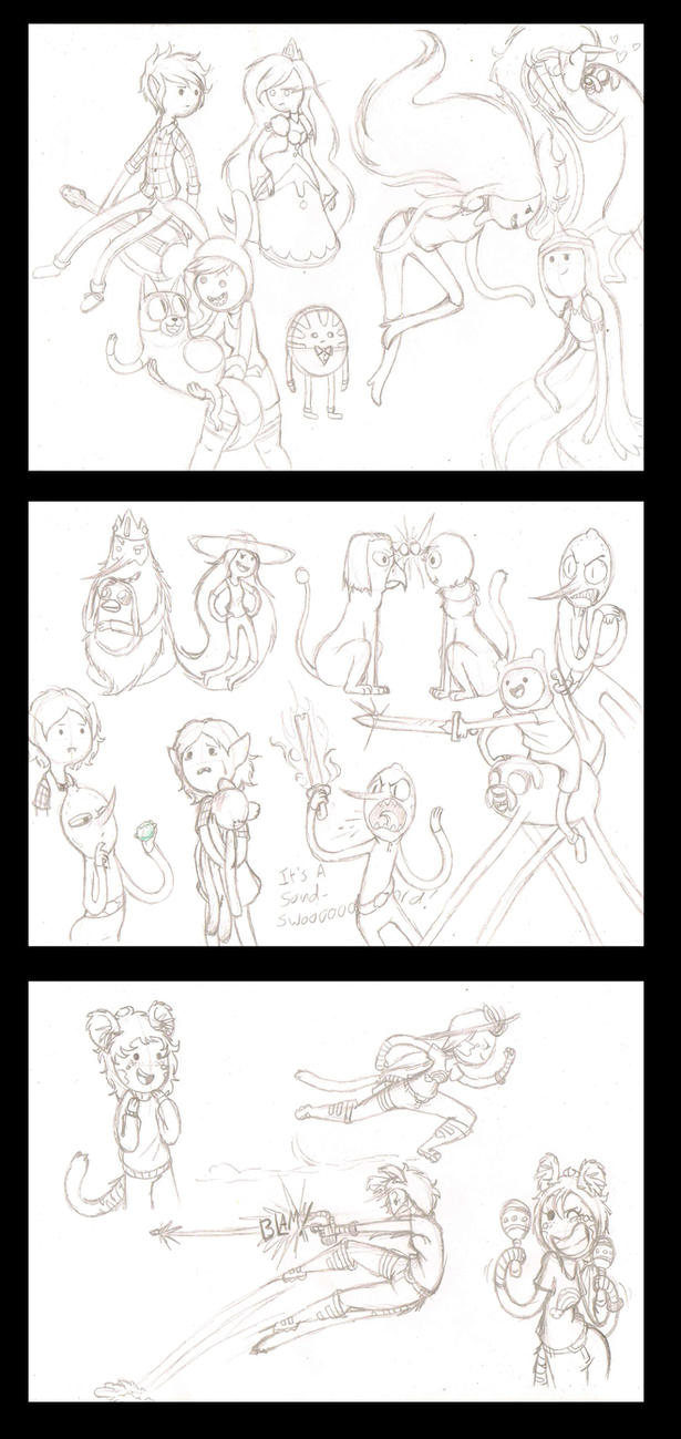 Adventure time sketches by DragonCatgirl