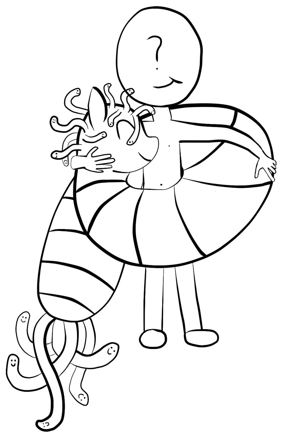 Cuddle Worm by ghanimaaa