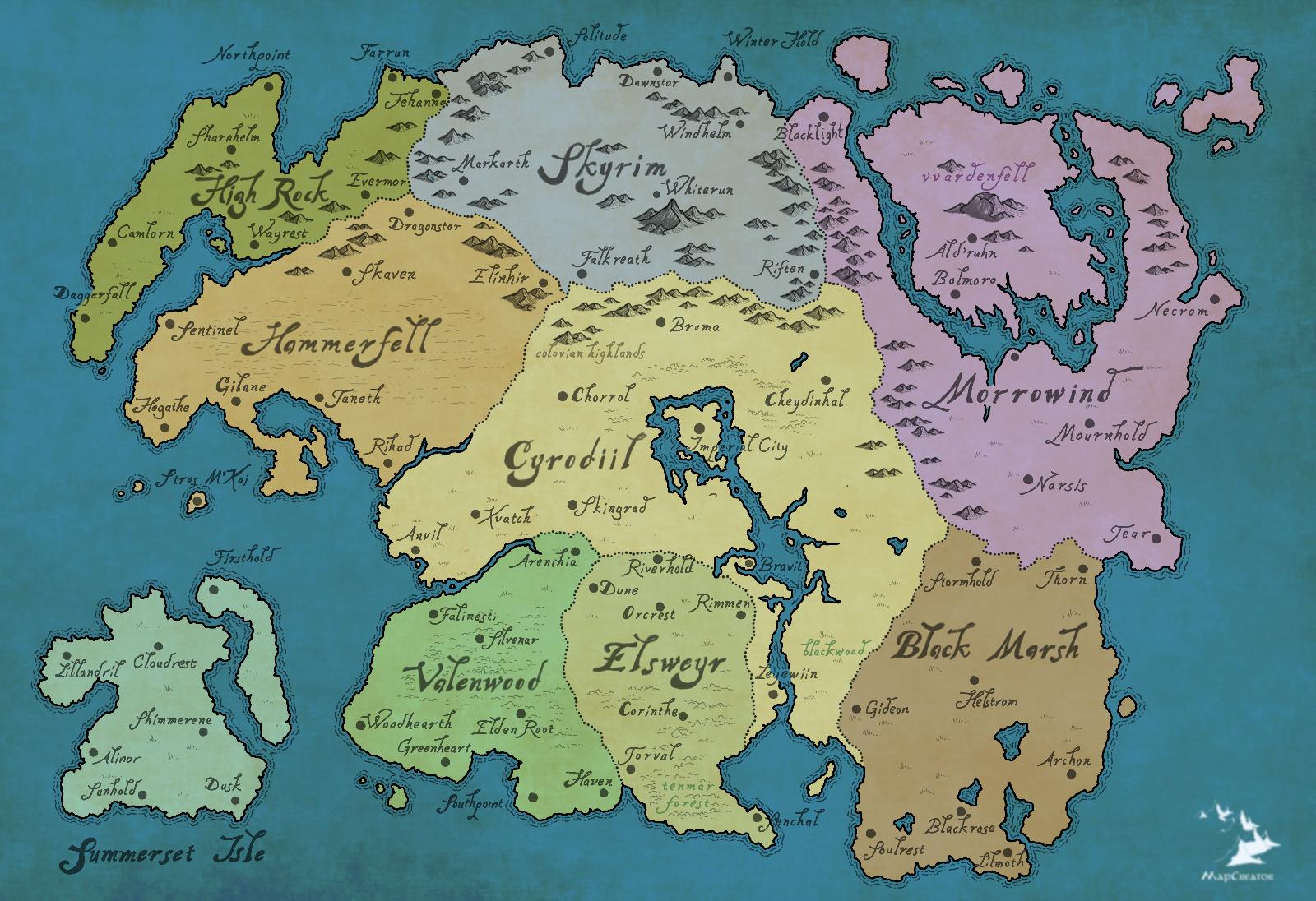 Tamriel Provinces