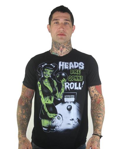 Bowling Zombie T-shirt by MarcusJones