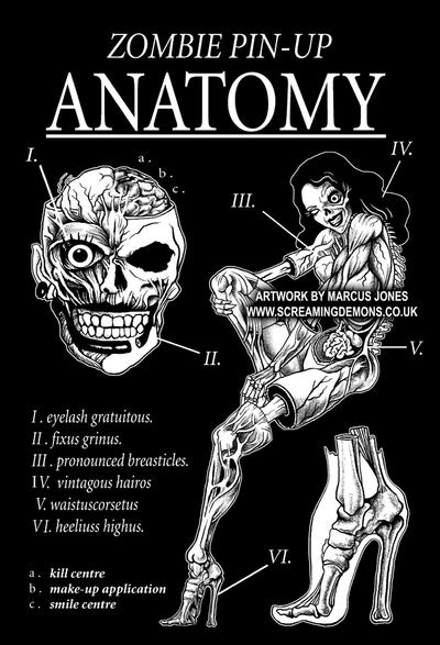 Pin-up Zombie Anatomy by MarcusJones