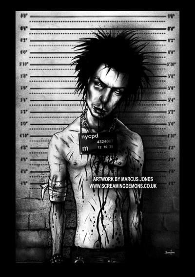 Sid Vicious Mugshot by MarcusJones