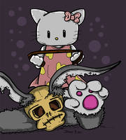 Hello Kitty vs Rabbit version 2 by Prickblad