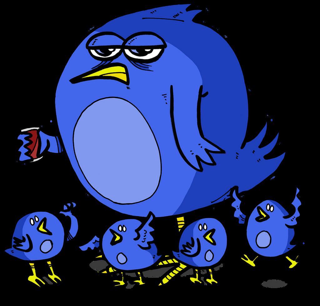 Family of Twitter birds by Prickblad