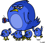 Family of Twitter birds