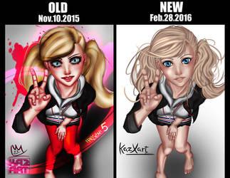 Old vs New 01 Persona 5 Ann Takamaki by KazXart