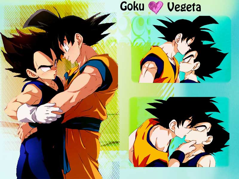 Vegeta and Goku yaoi Wallpaper by Amersss